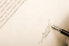Unterschrift Retro- Lizenzfreies Stockbild
