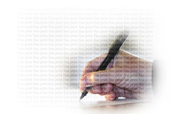 Unterschriften-feiner Druck Stockbild