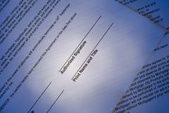 Unterschriftenbereich stockfotos
