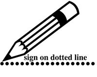 Unterschriftenzeile Stockbild