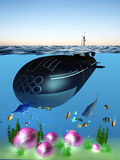 Unterseeboot lizenzfreie abbildung