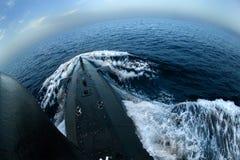 Unterseeboot auf Oberfläche Stockfotografie