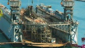 Unterseeboot im Dock stock video footage