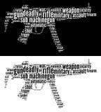 Unterseeboot Machine-gun Grafiken Lizenzfreie Stockfotos