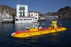 Unterseeboot in Puerto de Mogan, Gran Canaria, Spanien Stockfotos