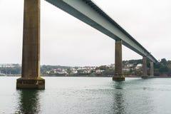Unterseite der Cleddau-Brücke Stockbild