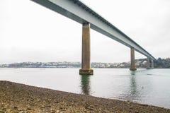 Unterseite der Cleddau-Brücke Stockfotografie