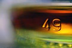 Unterseite der Flasche Stockfoto