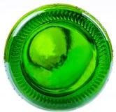 Unterseite der grünen Flasche Lizenzfreie Stockfotos