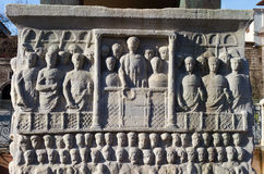 Unterseite des Obelisk von Theodosius Stockbild