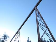 Unterseite herauf Brücke Lizenzfreie Stockbilder