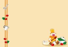 Unterseite mit jungem verkleidetem Schätzchen des Kochs Lizenzfreies Stockfoto
