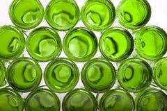 Unterseiten der leeren Glasflaschen Lizenzfreies Stockbild