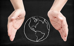 Unterstützende Erde Lizenzfreies Stockbild