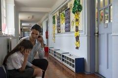 Unterstützender Lehrer Stockfotos