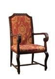 Unterstützter Stuhl der Antike gerade   Stockbild