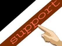 Unterstützung Stockfoto