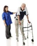 Unterstützung der älteren Personen Stockfotografie