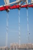 Unterstützung des gebogenen Stahlträgers von Chongqing Chaotianmen Yangtze River Bridge Lizenzfreie Stockfotografie