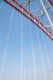Unterstützung des gebogenen Stahlträgers von Chongqing Chaotianmen Yangtze River Bridge Lizenzfreie Stockbilder