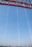Unterstützung des gebogenen Stahlträgers von Chongqing Chaotianmen Yangtze River Bridge Stockbilder