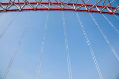Unterstützung des gebogenen Stahlträgers von Chongqing Chaotianmen Yangtze River Bridge Stockbild