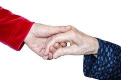 Unterstützung geben, Helfen, Hand halten Lizenzfreies Stockfoto