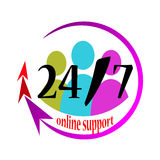Unterstützung twenty-four Stunden Lizenzfreie Abbildung