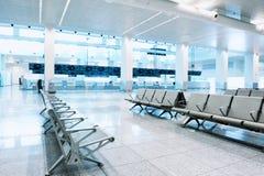 Unterstand im Flughafenterminal Stockfoto