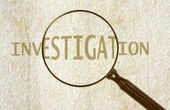 Untersuchung Lizenzfreie Stockfotos