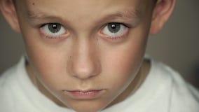 Untersuchung den Kamerajungen mit großen Augen stock footage