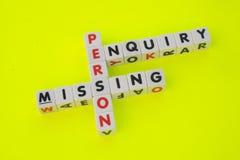 Untersuchung der vermissten Person Lizenzfreie Stockfotos