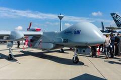 Untersuchung UAV IAI Eitan (standhaft), alias Reiher TP durch die Malat-Abteilung von Israel Aerospace Industries Lizenzfreie Stockfotografie