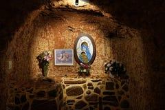 Untertägige katholische Kirche in Coober Pedy lizenzfreies stockfoto