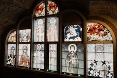 Untertägige serbische orthodoxe Kirche in Coober Pedy Stockfotografie