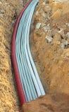 Untertägiges elektrisches Rohr Stockbild