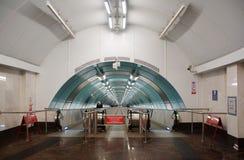 Untertageüberfahrt an der Metrostation Sportivnaya Lizenzfreies Stockfoto