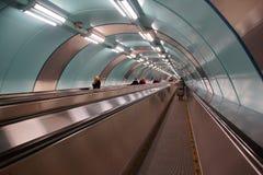 Untertageüberfahrt an der Metrostation Sportivnaya Lizenzfreie Stockfotografie
