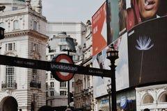 Untertage-London lizenzfreie stockbilder