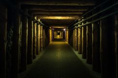 Untertage-tunel - Wieliczka-Salzbergwerk stockbild