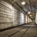 Untertagebunker vom kalten Krieg Stockbilder