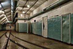 Untertagebunker vom kalten Krieg Stockfotos