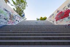 Untertagedurchgangstreppe Stockfotos