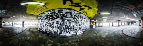 Untertagegraffiti Lizenzfreie Stockbilder