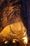 Untertagehöhlensystem in Wales stockfotos