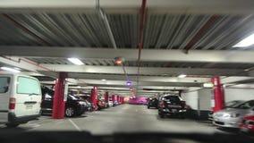 Untertageparkplatz stock video footage