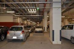 Untertageparkplatz, Handelszentrum-Mall Lahore Pakistan Stockbild