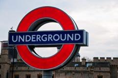 Untertagezeichen in London Lizenzfreies Stockfoto