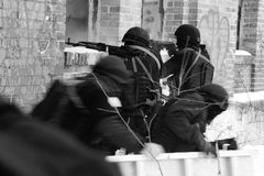 Unterteilunganti-terroristpolizei. Lizenzfreies Stockbild