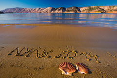 Untertitel 2014 Nyar der Strand stockfotografie